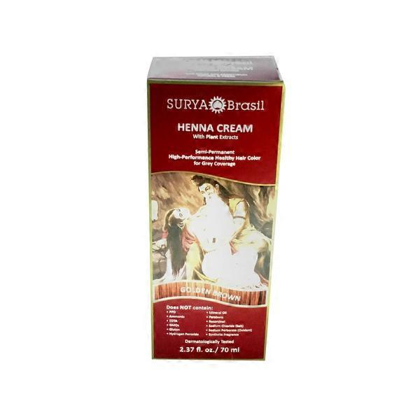 Surya Golden Brown Henna Hair Dye 2 31 Fl Oz From Natural Grocers