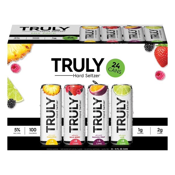 Truly Variety Spiked And Sparkling, 24 X 12 oz