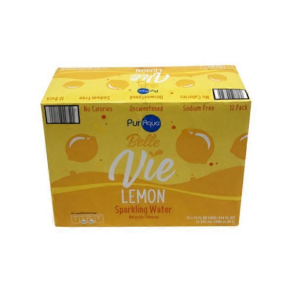 PurAqua Lemon Belle Vie Sparkling Flavored Water