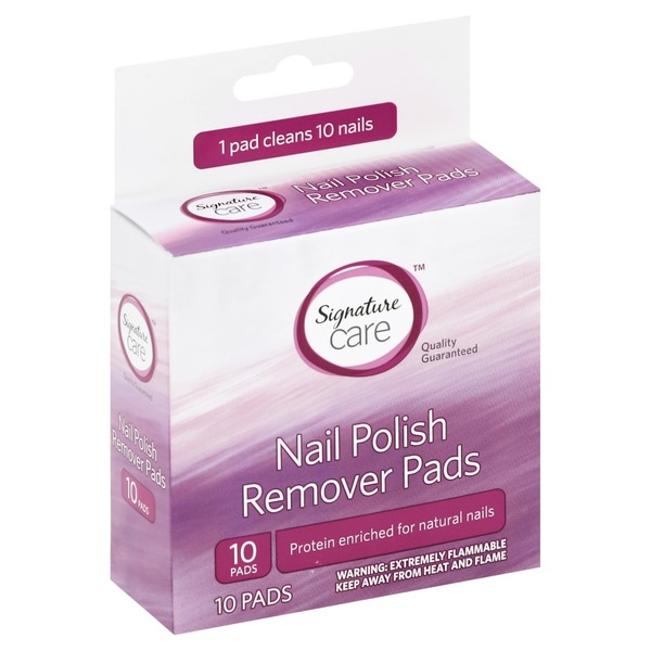 Signature Home Nail Polish Remover Pads from Safeway Community ...