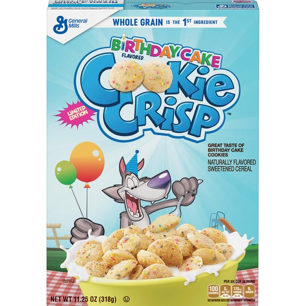 General Mills Birthday Cake Flavored Cookie Crisp 1125 Oz From
