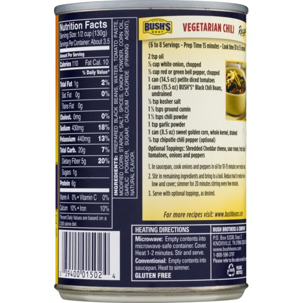 35 Bush S Black Beans Nutrition Label Labels Database 2020