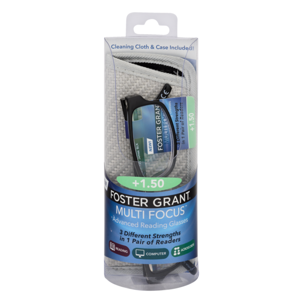 Foster Grant Multi Focus Reading Glasses +1 50 (1 pr) from