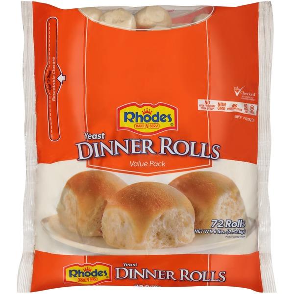 Rhodes Yeast Dinner Frozen Rolls Dough 6 Lb Instacart