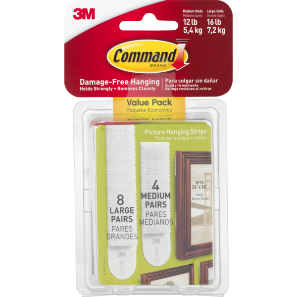 3m Command 3m Damage Free Hanging Mediumlarge Picture Hanging