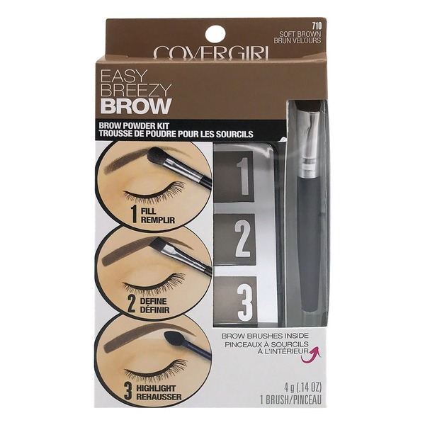 Covergirl Easy Breezy Brow Powder Kit 710 Soft Brown 014 Oz From