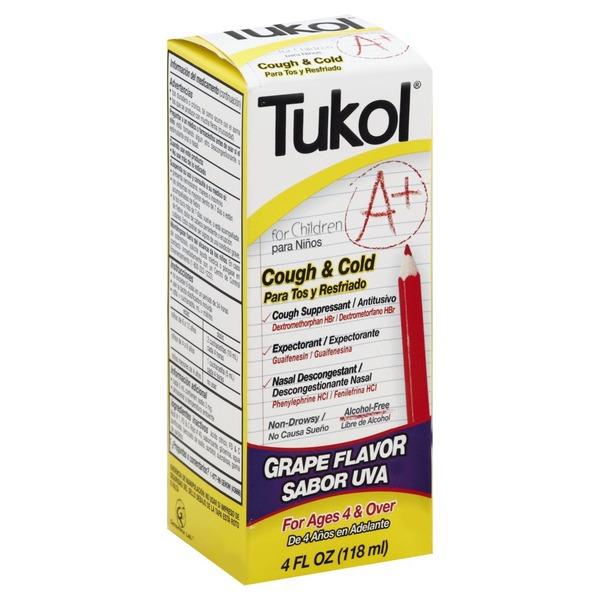 Tukol Cough Cold For Children Grape Flavor 4 Oz From