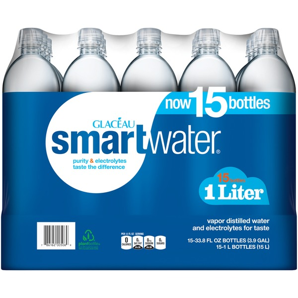 smartwater vapor distilled premium water bottles (33 8 fl oz