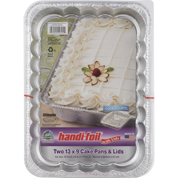 Strange Handi Foil Eco Foil 13X9 Cake Pans Lids 2 Ct From Safeway Personalised Birthday Cards Cominlily Jamesorg