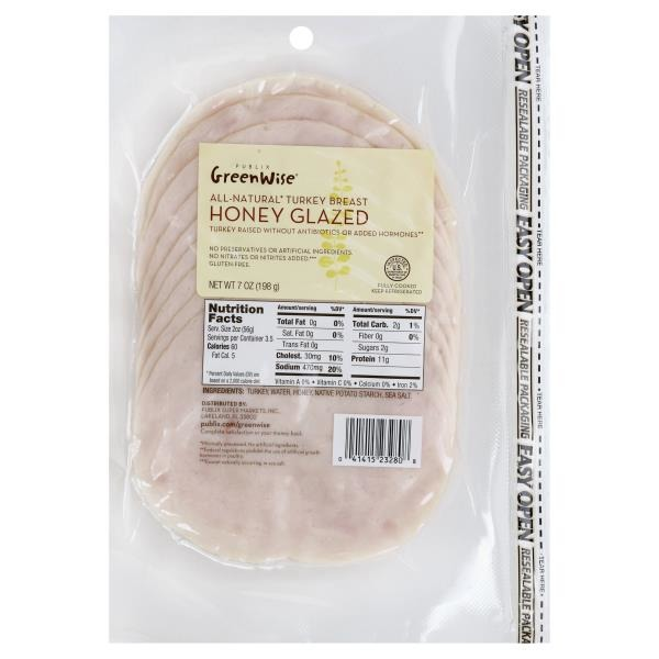 GreenWise Honey Turkey (7 oz) from Publix - Instacart