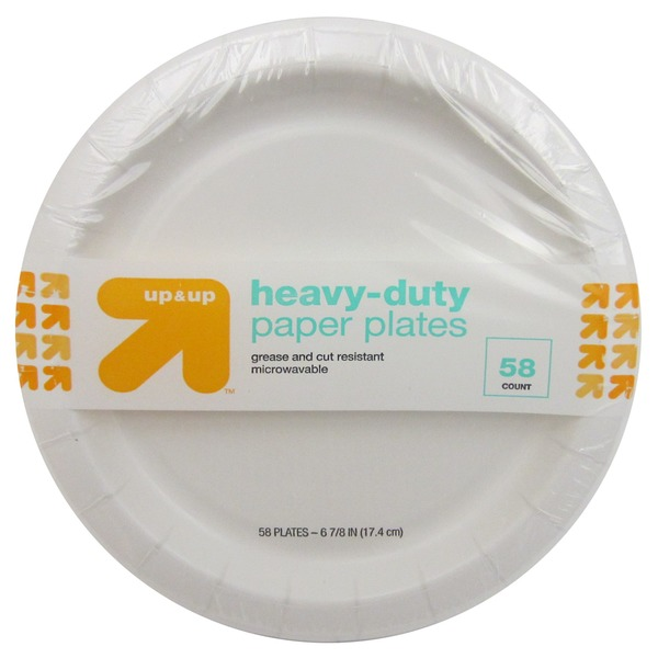 up u0026 up Heavy Duty Disposable Paper Plates  sc 1 st  Instacart & up u0026 up Heavy Duty Disposable Paper Plates (60 count) from Target ...