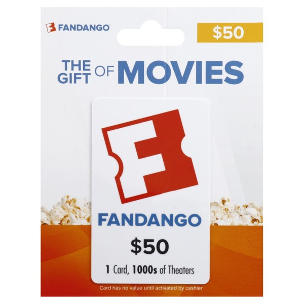 How much is left on my fandango gift card