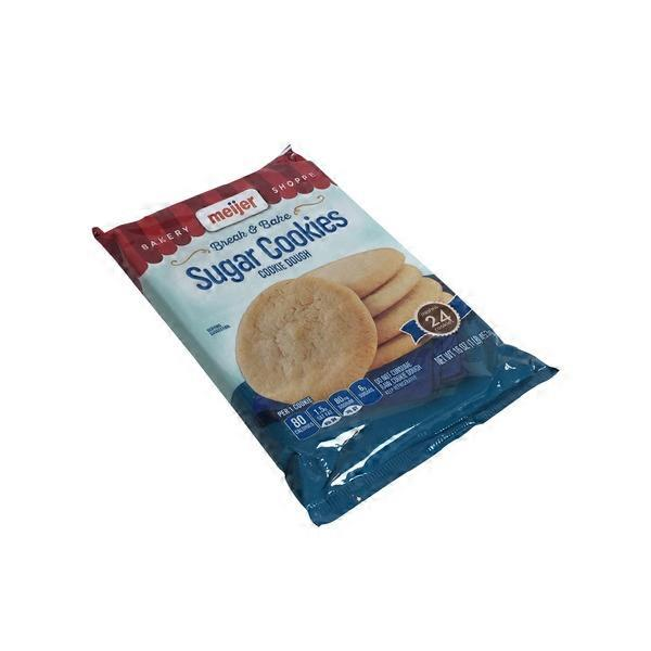 Meijer Sugar Cookie Break N Bake Cookie Dough 16 Oz From Meijer