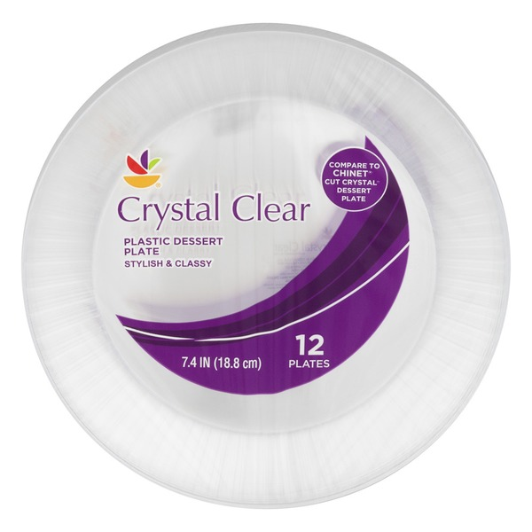 SB Crystal Clear Plastic Dessert Plates - 12 CT  sc 1 st  Instacart & SB Crystal Clear Plastic Dessert Plates - 12 CT from Giant Food ...