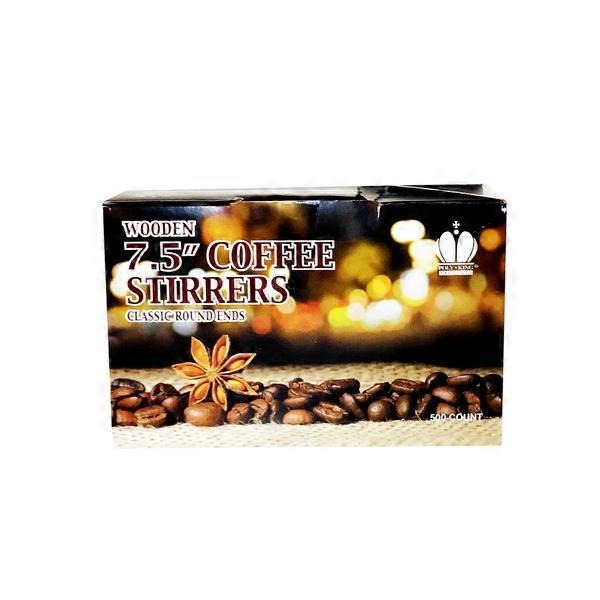 Poly King 75 Inch Wooden Coffee Stirrers 500 Ct From Smart Final