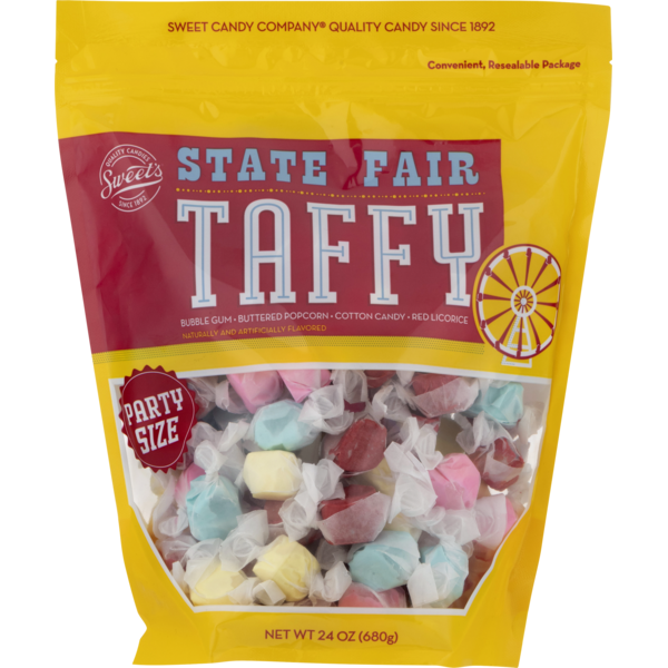 State Fair Candies, Taffy, Assorted, Party Size, Bag (24 oz
