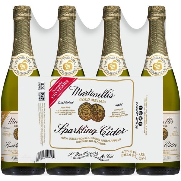 Martinelli S Gold Medal Sparkling Martinelli Gold Medal Sparkling Cider 25 4 Fl Oz Instacart
