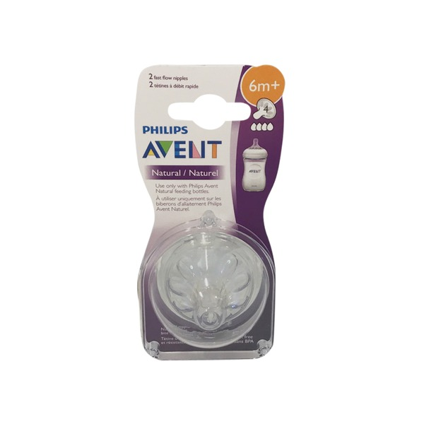 2ct, 6+ months Phillips Avent Anti-Colic Fast Flow Nipples 6 PACK