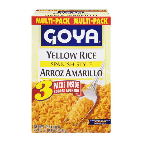 Goya Yellow Rice Spanish Style 3 Ct 240 Oz From Acme Markets