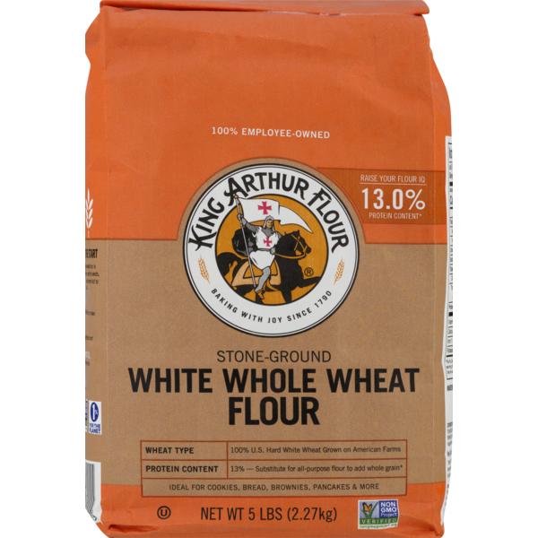 King Arthur Flour Stone-Ground Flour White Whole Wheat