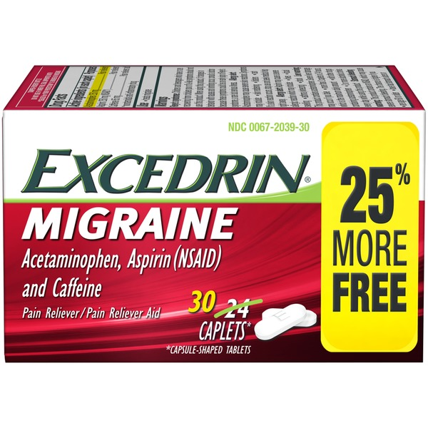 Excedrin Migraine Caplets Pain Reliever Pain Reliever Aid From