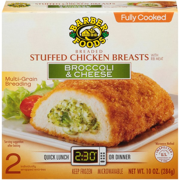Barber Foods Broccoli Cheese Breaded Fully Cooked Stuffed Chicken