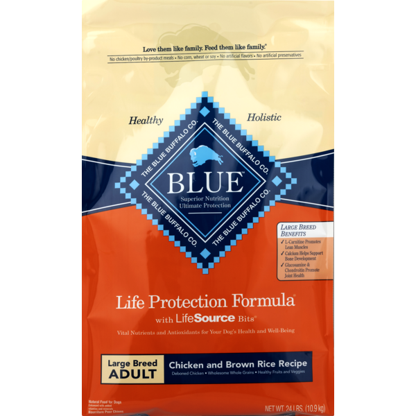 Blue Buffalo Large Breed Dog Food Chicken And Brown Rice From Stater