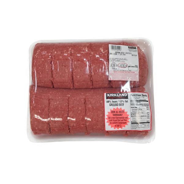Kirkland Signature Fresh Ground Beef Patties 88 Lean 12 Fat 6