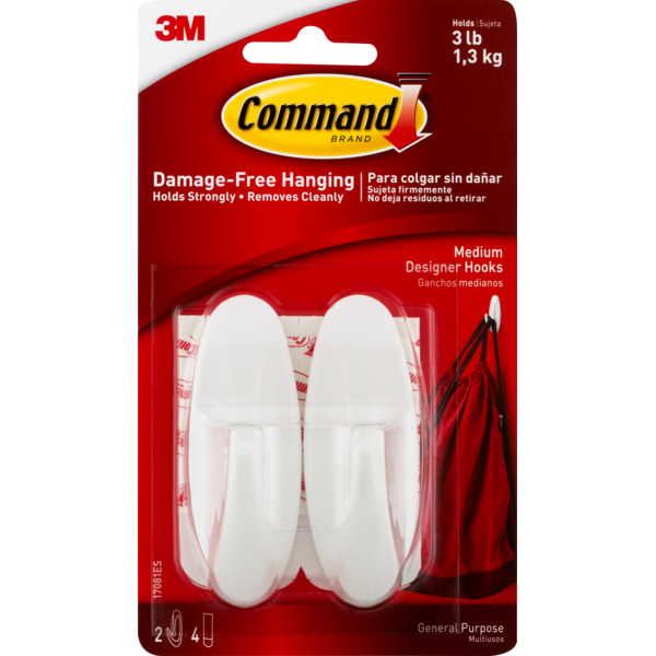 X2 3m 17082 Small Hooks With Command Adhesive