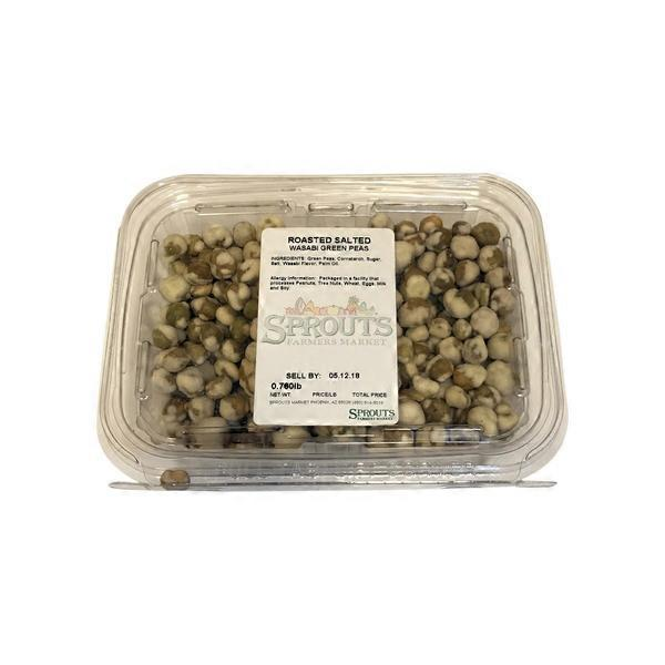 Roasted Salted Green Wasabi Peas, Package (1 lb) from Sprouts
