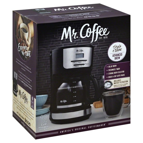 Mr Coffee Coffeemaker Programmable Advanced Brew 12 Cup From