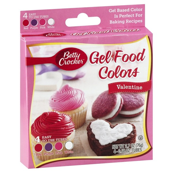 Betty Crocker Gel Food Colors, Valentine (4 each) from Tom Thumb ...