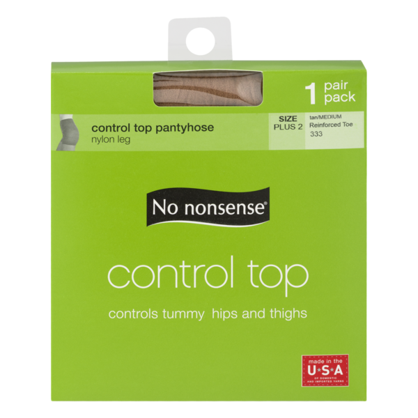 f657b3eab98d0 No nonsense Control Top Pantyhose Tan Size Plus 2 (1 pr) from Stop ...