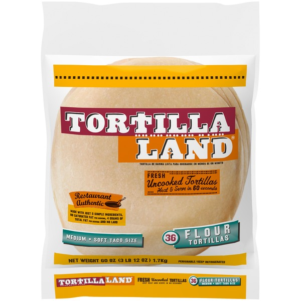 Tortillaland Tortillaland Soft Flour Tortillas Medium 36 Count 36 Ct Instacart
