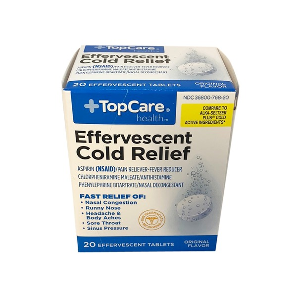 Topcare Health Effervescent Cold Relief Aspirin (nsaid)/pain