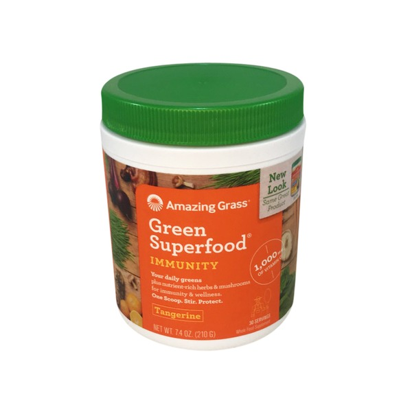 Amazing Grass Green Superfood Immunity Tangerine Whole Food