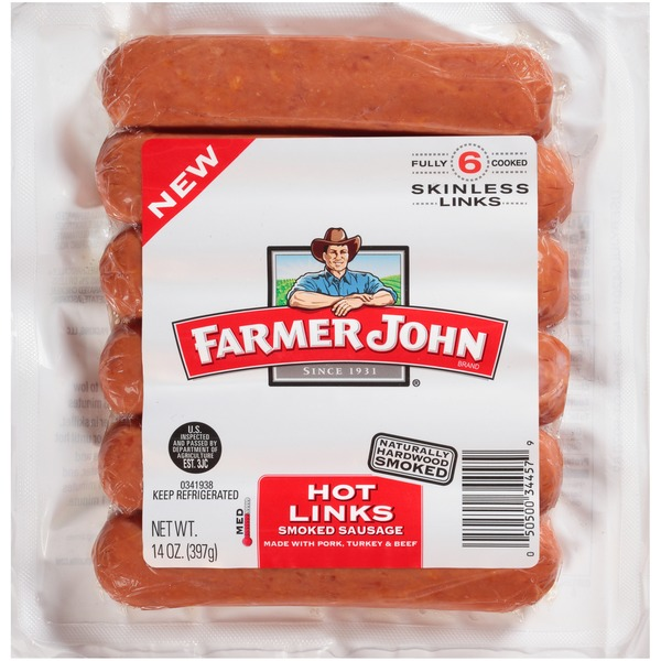 Image result for farmer john hot links