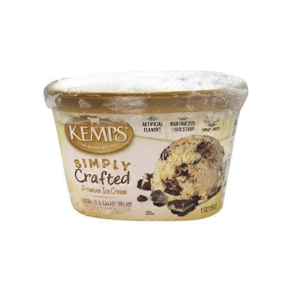 Kemps Simply Crafted Rich Vanilla Churned With Crushed