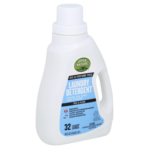 Open Nature Laundry Detergent Free Clear 50 Oz From Vons