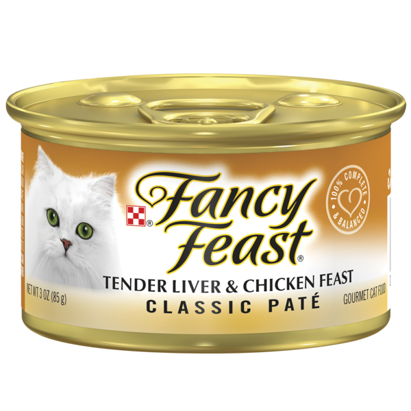 Fancy Feast Classic Tender Liver Chicken Feast Wet Cat Food From