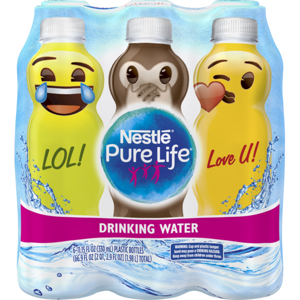 Nestle Pure Life emoji Collection Drinking Water (11 15 fl oz) from