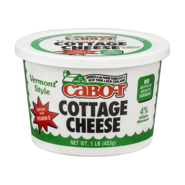 cabot creamery vermont style cottage cheese with vitamin d from rh instacart com cabot cottage cheese nutrition cabot creamery cottage cheese