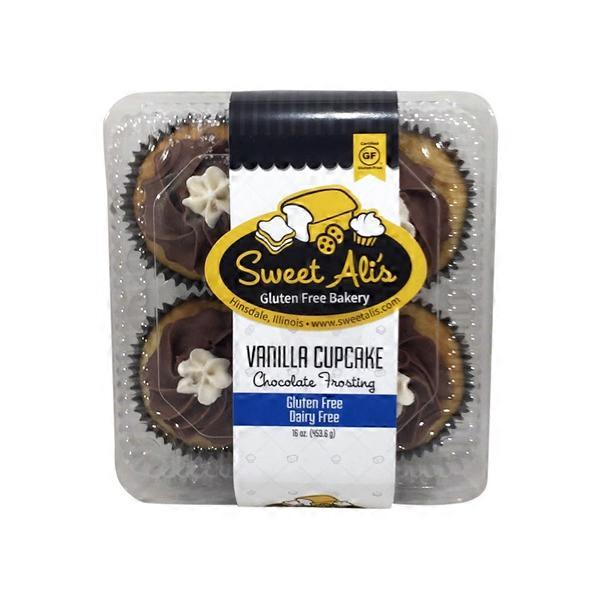 Whole Foods Market Sweet Alis Gluten Free Dairy Vanilla Chocolate Cupcakes