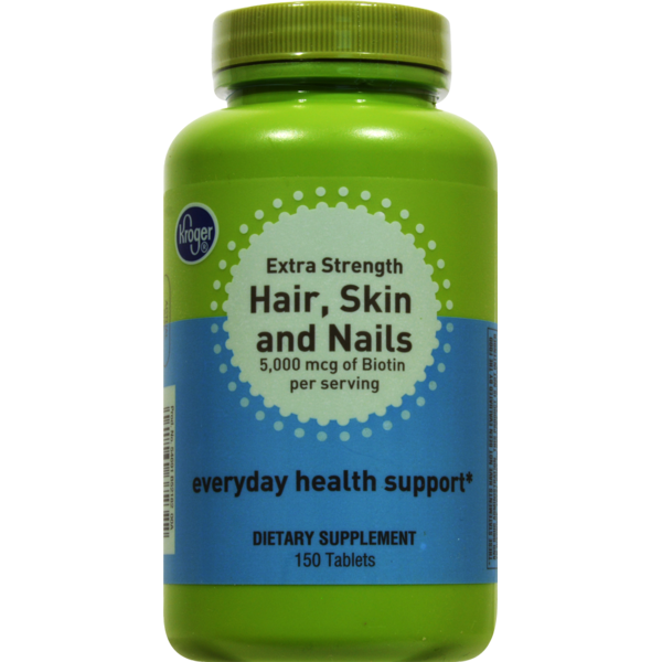 Kroger Extra Strength Hair, Skin And Nails Dietary Supplements (150 ...