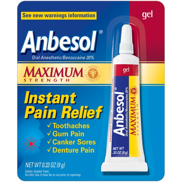 Anbesol Maximum Strength Oral Anesthetic Gel (0 33 oz) from