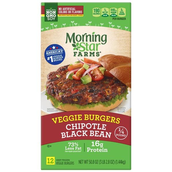 Morning Star Farms Veggie Burger Black Bean Corn Chipotle Pepper