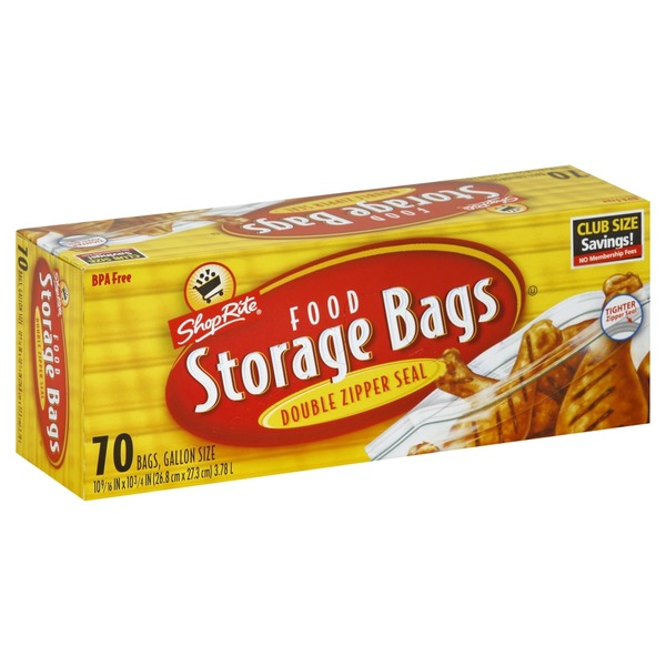 ShopRite Food Storage Bags Double Zipper Seal Gallon  sc 1 st  Instacart & ShopRite Food Storage Bags Double Zipper Seal Gallon (70.00 ea ...