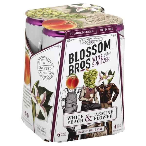 Blossom Bros Wine Spritzer White Peach Jasmine Flower 12 Fl Oz