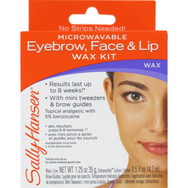 Sally Hansen Microwavable Eyebrow Face Lip Wax Kit Each From