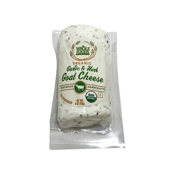 Whole Foods Market Organic Garlic And Herb Goat Cheese
